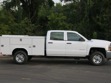 3 4 Ton Utility Truck Passenger Side Double Cab Utility Body