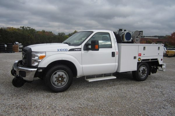 Track Inspection Truck Driver Side Standard Cab Utility Body Hydraulic Package