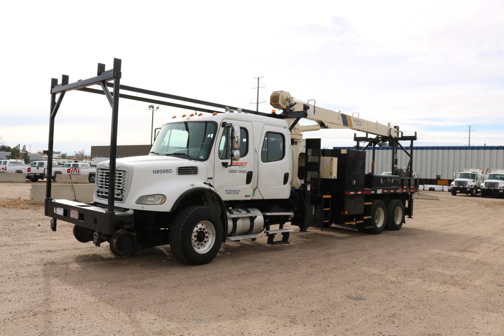 2008 Hi Rail Crew Cab 10 Ton Crane Truck Danella Companies